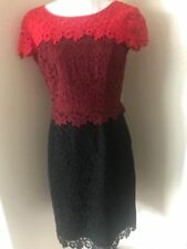 Antonio Melani New Harper 3-Tone Lace Sheath Dress Sz 4