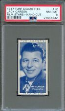 1947 TURF Cigarettes Card #12 JACK CARSON Mildred Pierce Roughly Speaking PSA 8