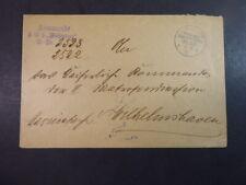MSP No.35 3/8/01 (SMS Weißenburg), K1 auf Dienstbrief nach Wilhelmshafen