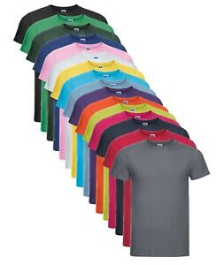 Russell 155M Uomo Tinta Unita Slim Fit Aderente Cotone Maglietta T-Shirt