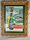 RARE Vintage Rolling Rock Beer Framed Bar Sign Man Cave Latrobe PA Advertising