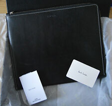 PAUL SMITH Men's black leather Naked Lady tablet case iPad cover documents