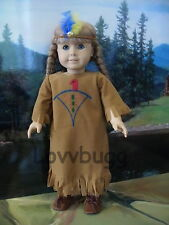 "Handpainted Native American Indian Costume for 18"" American Girl Doll Lovvbugg"