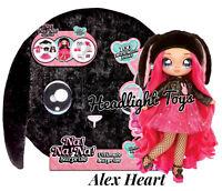 Na Na Na Ultimate Surprise Black Bunny Alex Heart Teen Fashion Doll Giant Pom