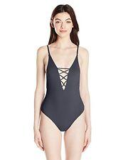 Billabong Women's Sol Searcher One Piece Swimsuit, Black Sands, SZ M