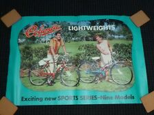 Vtg 60's Columbia Bicycle Store Advertising Poster Lightweight Bike 32 x 21.5""