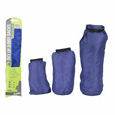 3 Pack Blue Waterproof Bag Canoe Floating Kayaking Easy Dry Sacks Rucksack Pouch