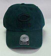 Green Bay Packers 47 Brand Clean Up Hat Adjustable Cap Double Rush