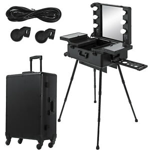 2 in 1 Cosmetics Makeup Case Trolley Storage Mobile Interchangeable Professional