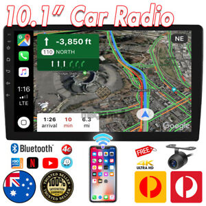 """10.1""""Double 2 DIN Android 10 Car Stereo GPS Head Unit FM/AM Player Car Play 4G"""