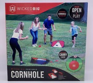 NEW Wicked Big Sports Collapsible Vinyl Cornhole Lawn Game Travel Set W/Case NIB