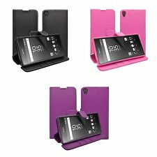 CASE FOR SONY XPERIA Z5 WALLET VARIOUS COLOURS COVER