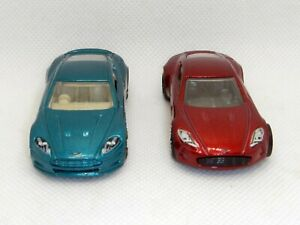 Lot Of 2 Cars Aston Martin Hot Wheels Mattel ONE-77 And Dbs Scale 1:87 Rare