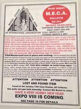 MECA Bulletin Magazine Expo VIII Coming No.244 March 9, 2007 041817nonrh