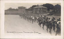 Tidworth. Cambridgeshire U.R.V.Leaving for Camp 1907. Military Procession.