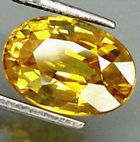 10 x 14mm Gema de zafiro amarillo Forma Oval Natural Piedra suelta