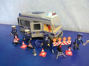 4022 Polizei Mannschaftswagen Blaulicht v  Figuren zu 5176 6872 Playmobil 5371