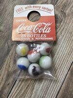 Coca Cola Soda Pop 1950's Grocery Store Coke MARBLES BOTTLE HANGER Advertising