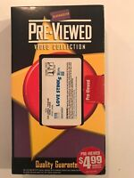 "VINTAGE BLOCKBUSTER PREVIEWED VIDEO COLLECTION ""LOVE STINKS"" VHS 1999"
