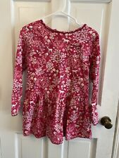 Lands' End Girls Flannel dress size 12 Pink Floral with Horses  EUC!