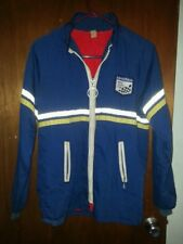 VINTAGE BLUE MENS MECHANICS JACKET WORK COAT HOT ROD CAR GOODYEAR Small LINED S