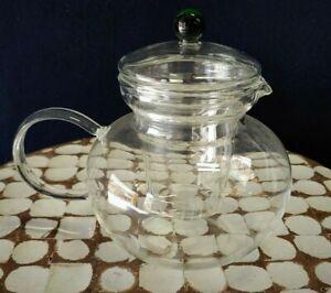 Fellini Emerald | Glass Teapot with Infuser | 40 oz | 1200ML