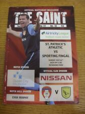 25/07/2010 St Patricks Athletic v Sporting Fingal  (slight mark on front). Thank