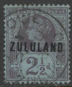 ZULULAND 1891 2½d SG.4 SACC 4. Used ⊙ Eshowe (Combined shipping ≥ £1.15/order)