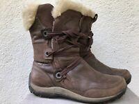 Women's Merrell 10.5 Brown Nikita Waterproof Insulated Winter Boots Fur Lace Up
