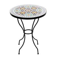 Marokkanischer Mosaiktisch orientalischer Tisch Bistrotisch Gartentisch 60cm Lis