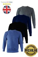 Mens Warm Heavyweight Sweatshirt Pullover Crew Neck Jumper Work Top. UK Seller