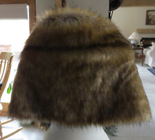 Fully lined faux fox fur stole  with collar worn once