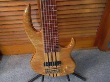 Conkin Sidewinder 7 String Fretless Bass Neck-Through w/28 Fret Line Markers !