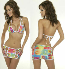 SEXY CUT-OUT SKIRT SET, STRIPPER STAGEWEAR, HOT LINGERIE - SMALL