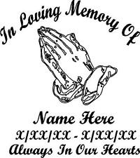 In Loving Memory Praying Hands
