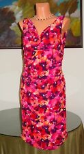 NWT Ralph Lauren Temple Garden Dress, sz 14 Pink Multi
