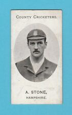 CRICKET - TADDY & CO. - VERY RARE CRICKET CARD -  A. STONE OF HAMPSHIRE  -  1907
