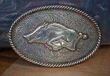 Arkansas Razorbacks Licensed NCAA Belt Buckle GO HOGS!!