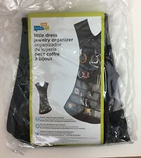 Honey Can Do Black Dress Hanging Jewelry Organizer 32 Clear Pockets 16 Loops New