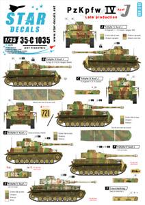 Star Decals 1/35 Pz.kpfw.iv Ausf.j Dernier Production #35-C1035