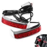 Saddlebag Housing Tail Brake Turn Light LED Lens For Harley Touring Street Glide