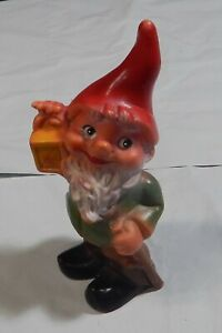 """Vintage Gnome Figure  Plastic Made in West Germany  7 1/2""""  #6024"""