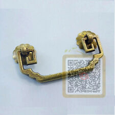 """Chinese Style Antique Bronze Strong Drawer Pull Handle Long 3.3"""" S1"""