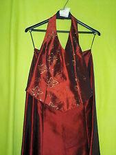 Ballkleid Abendkleid zur Feier Party Abiball in rot von MODESZENE Gr.38 2teilig