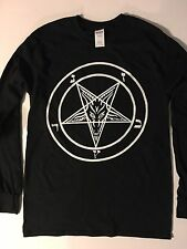 PENTAGRAM Small LongSleeve TShirt satanic satan black metal gothic FREE SHIPPING