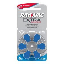 RAYOVAC Extra Advanced MERCURY FREE ORIGINALE Apparecchio acustico Batterie x60 Taglia 675