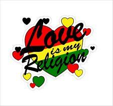 Rasta Reggae JAH Macbook Lion of Judah One Love Vinyl Car Helmet Sticker Decal