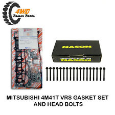 VRS Gasket Set & Head Bolts for Mitsubishi Pajero NM NP 4M41T 4 Cyl 3.2 ltr DOHC
