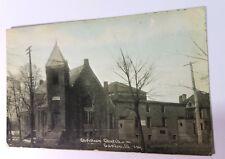 1910's C.U. Williams Christian Church CANTON ILLINOIS Photoette Bloomington Rare