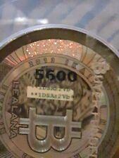 2013 Lealana Gold Hologram Green Address .10 Bitcoin Not Loaded coin RARE Add1D